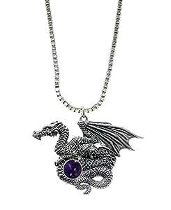 El dragón de plata dragón de muchos tesoros de colgante en plata con Iolite ... De hecho en América