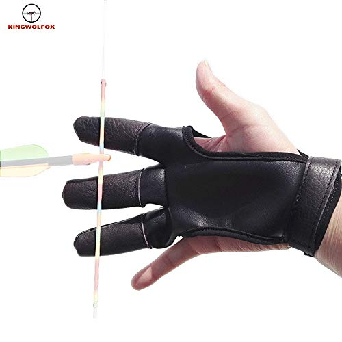 Sports & Entertainment Strong-Willed 2 Color 1 Pair Archery Glove Protector Cow Leather Adjustable Size Hand Right Hand And Left Hand Guard Protect Archery Hunting
