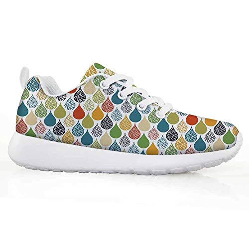 Price comparison product image Abstract Children Running Shoes Colorful Large Drop Dots Pattern in Various Tones Retro Funky Fashion GRA