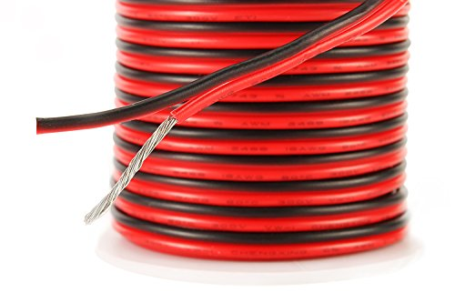 C-able 50FT Hookup Electrical 2 Red Black Silicone Wire LED Strip ...