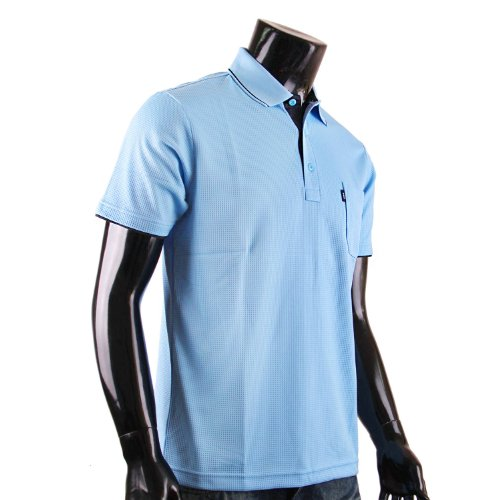 BCPOLO Herren Polo Shirt DRI FIT Polo Hemd Kurzarm. Sky blue
