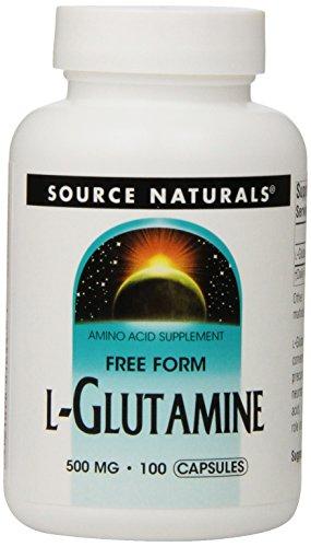 Source Naturals L-Glutamine 500mg, 100 gélules