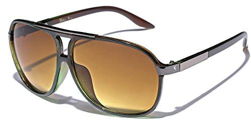 Men's Women's Retro Vintage 80s Classic Fashion Designer Aviator Sunglasses Green Vintage Aviator