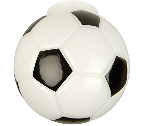 "Craftmade 406 Soccer Ball Sphere Shaped Fan Glass Shade with 2 1/4"" Neck"