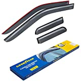 Goodyear Shatterproof Side Window Deflectors for Trucks Ford F-150 2015-2020 SuperCab, Tape-on Rain Guards, Vent Window Visors, 4 Pieces – GY003113