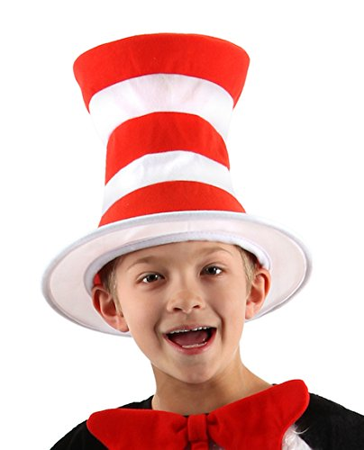 Dr. Seuss Cat in the Hat Costume Hat for Kids by elope (Halloween Costume Made Out Of Boxes)