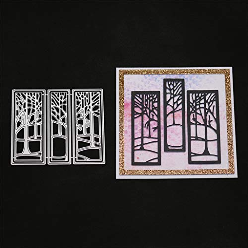 Forest Cutting Dies for Card Making, URYKEE Cut Die Metal Stencil Pattern Template Die Cuts Mould for DIY Embossing Scrapbooking Paper Birthday Festival Decoration New
