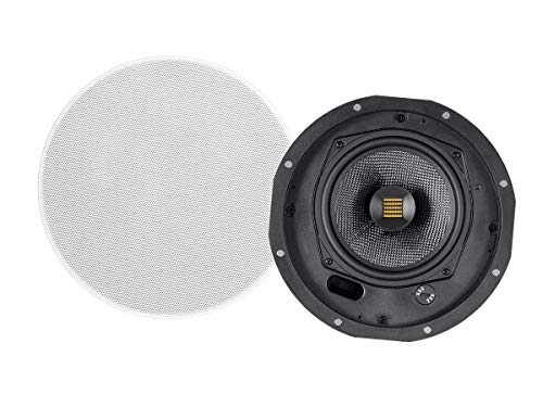 Monoprice Amber 3-Way Carbon Fiber In-Wall Column Speaker - 6.5 Inch With Ribbon Tweeter (Each)