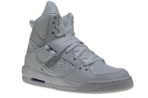 Nike Jordan Flight 45 High Bg, Zapatillas de Deporte para Niños Blanco / Gris (White / Cool Grey-White)