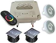 Kit Iluminação Piscina - Touch e 2 Leds Rgb 4,5w Tholz