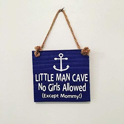 - Anchor Little Man Cave No Girls Allowed Nautical Nursery Sign