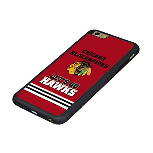 Drop Protection Cool iPhone 6s/iPhone 6 Case Cover Chicago Blackhawks with Glass Screen Protector and Electroplate Soft Tpu Solicone Case