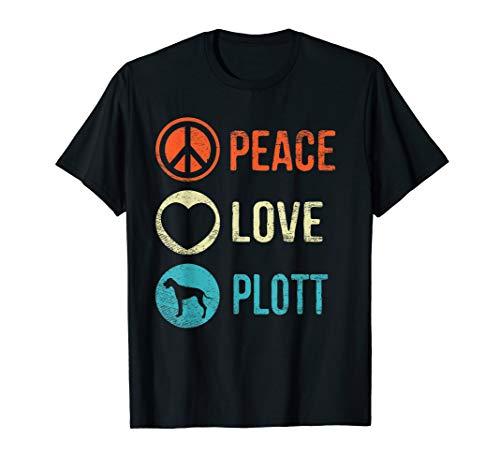 (Peace Love Plott T-Shirt Dog Lover Pet Owner Puppy Gifts)