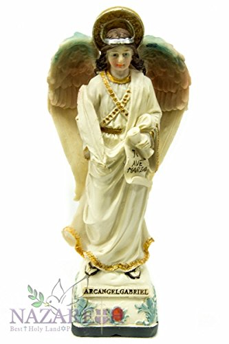 Christian Archangel Saint Gabriel Statue Figurine Holyland 9'' by Holy Land Gifts
