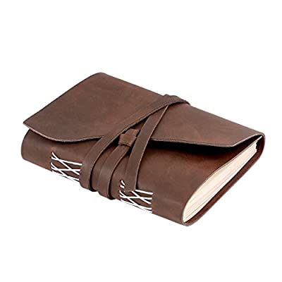 Hand Made Leather Journal, Vintage Travel Diary, Soft Leather Notebook for Men and Women