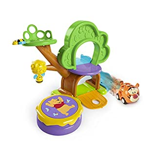 Bright Starts Winnie The Pooh Treehouse Playset with Push Car, Ages 12 Months +