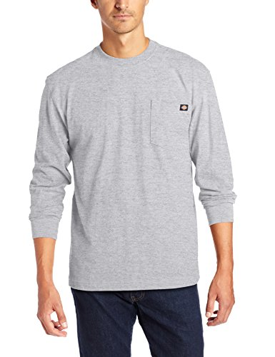 (Dickies Men's Long Sleeve Heavyweight Crew Neck, Ash Gray, X-Large)