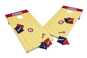 Wild Sports NCAA College Alabama Crimson Tide 2' x 4' Authentic Cornhole Game Set