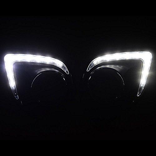 [해외]1 쌍 주간 러닝 라이트 안개등 커버 적합 2013-2015 Mitsubishi ASX Outlander Sport/1 Pair Daytime Running Light Fog Lamp Cover Fit 2013-201
