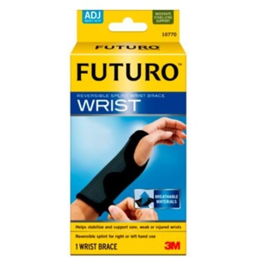 Image of 3M Health Care 10770EN Wrist Brace, Adjustable, Black (Pack of 12) Hand & Wrist Braces