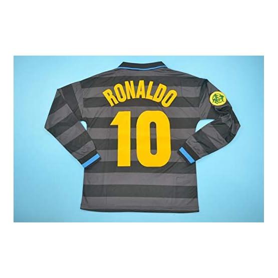BROOK Ronaldo#10 Inter Milan Away Retro Long Sleeve Soccer Jersey 1997-1998