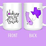 I F*cking Miss You Bitch - Long Distance Friendship Gifts - State Mugs - Going Away - 15 oz. Coffee...