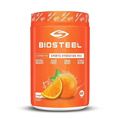 Biosteel High Performance Sports Drink Powder, Naturally Sweetened with Stevia, Orange, 315 Gram