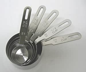 R.S.V.P International Inc. Stainless Steel Measuring Cups - 5 Pieces