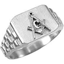 925 Sterling Silver Masonic Ring Men's Freemason Ring Size 6-16
