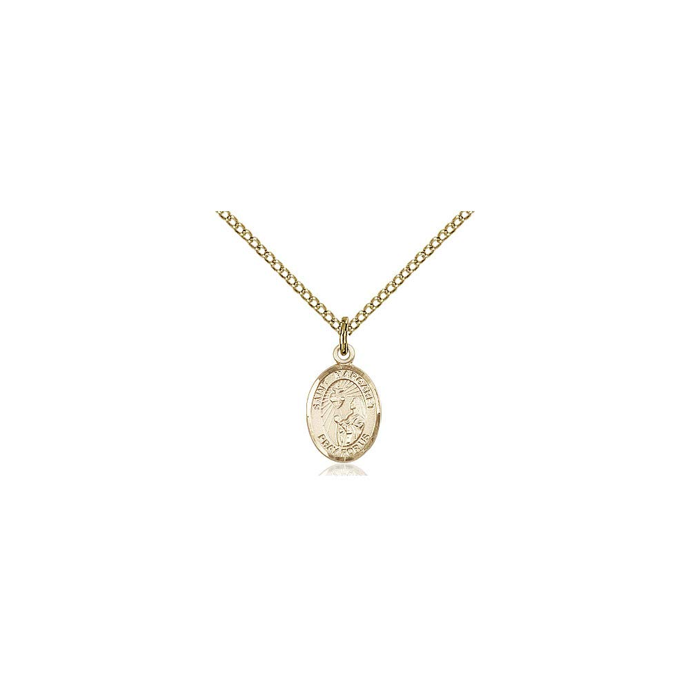 DiamondJewelryNY 14kt Gold Filled St Margaret Mary Alacoque Pendant