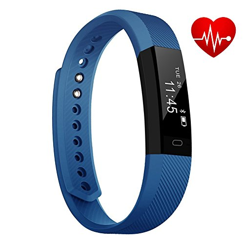 TopBest Fitness Tracker Bluetooth Call Remind Remote Self-Timer Slim Smart Bracelet Calorie Counter Wireless Pedometer Band Sport Sleep Monitor Activity Tracker for Android iOS Phone by ANCwear