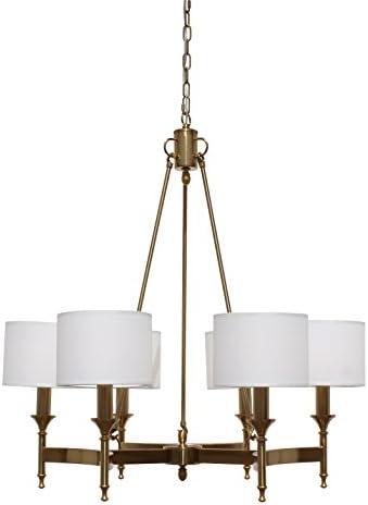 Stella 6 Light Brass Chandelier
