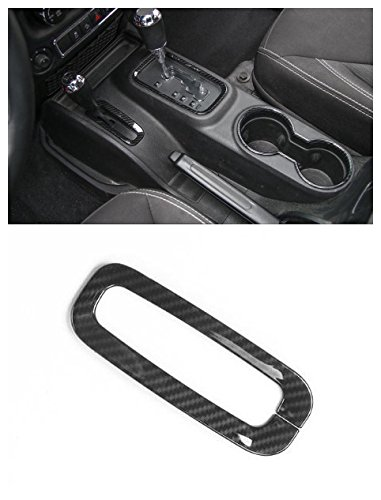 Niceautoitem 11Colors Car Interior Accessories Small Size Gear Box Trim Cover ABS Jeep Wrangler JK 2011-2016 (Carbon Fiber)