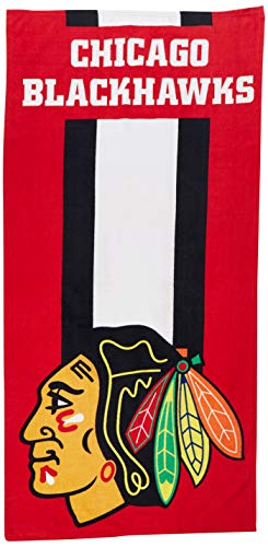 The Northwest Company Officially Licensed NHL Chicago Blackhawks Zone Read Beach Towel, 30