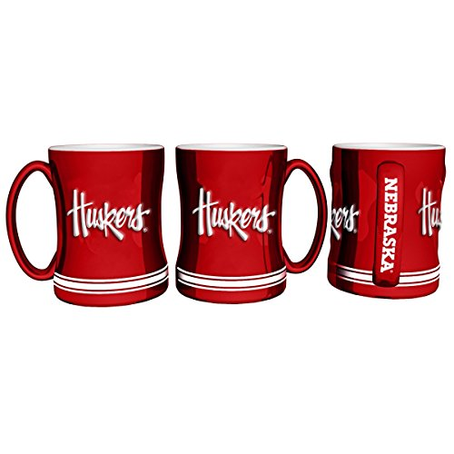 Cornhuskers Nebraska Coffee Mug - Boelter Brands NCAA Nebraska Cornhuskers 403991 Coffee Mug, Team Color, 14 oz