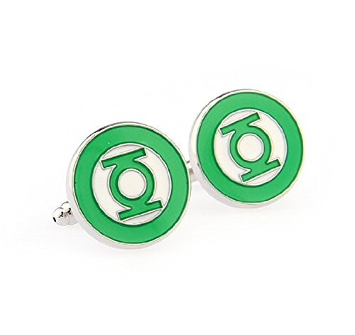 Men's Super Hero Wedding Shirt Series Novelty Premium Cufflinks (Green Lantern)