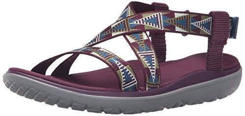 Livia W Women's Sandal Grape Teva Terra Mosaic Wine Float qCIg54w