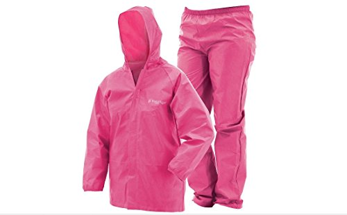 Frogg Toggs Ultra-Lite2 Waterproof Breathable Rain Suit, Youth, Pink, Size Large
