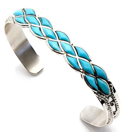 L7 Enterprises Turquoise Inlay Bracelet by Chavez
