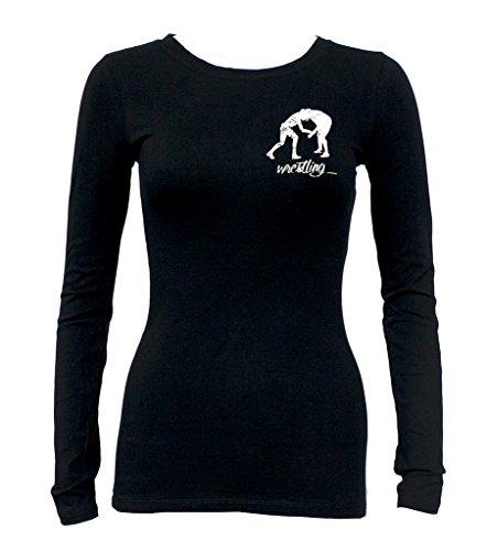Junior's MMA Wrestling Emblem Tee Black Long Sleeve T-Shirt Small Black by Interstate Apparel Inc