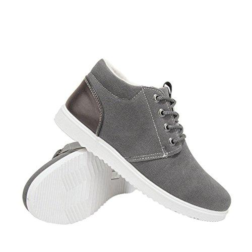 Sportive Sneaker Fodera Caldo Fuyingda Pelliccia Uomo Scarpe Outdoor Inverno Piatti Up Stivali Moda in Traspiranti Lace grigio Casual pnIq1Iwxv