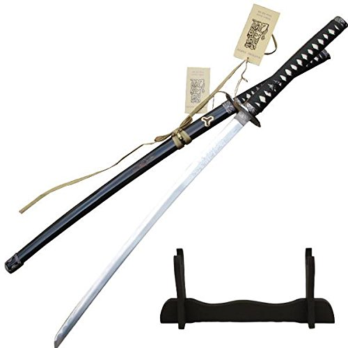 TIGER-USA Kill Bill Sword Hattori Hanzo Bud's Sword with Free Display Stand and Engraving on Scabbard and Blade