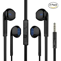 Earbuds, Pwow Wired Earphones with Microphone and Volume...