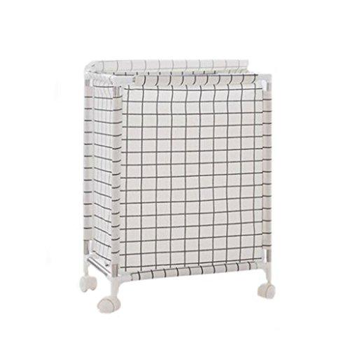 XXT-Storage basket Hamper Laundry Household Laundry Basket with lid Fabric Simple Rectangular Laundry Basket Large Toy Storage Box (Color : White)