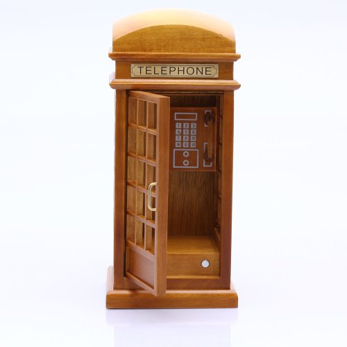 Antique Vintage English Telephone Booth Wind up Wooden for sale  Delivered anywhere in Canada