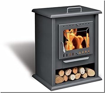 Estufa de leña con horno y leñero HAYA: Amazon.es: Bricolaje ...