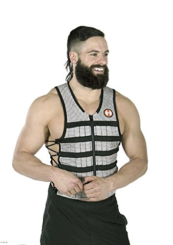 Hyperwear Hyper Vest PRO Unisex 10 Pound Adjustable Weighted Vest for Fitness Workouts