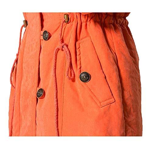Warm Battercake Outerwear Outdoor Elégante Rugueux Transition Parker À Mode Hiver Oversize Loisir Capuchon Long Manteau Femme Chic Épaissir Blau Unicolore Manches Confortables RqAwRzr