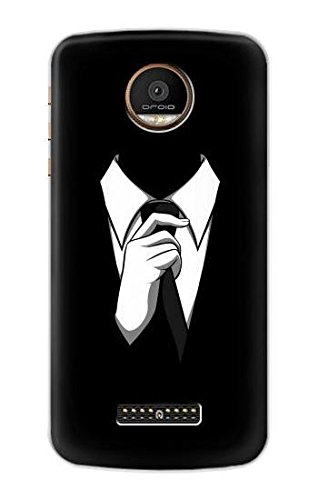 Anonymous Man in Black Suit Funda Carcasa Case para Motorola ...