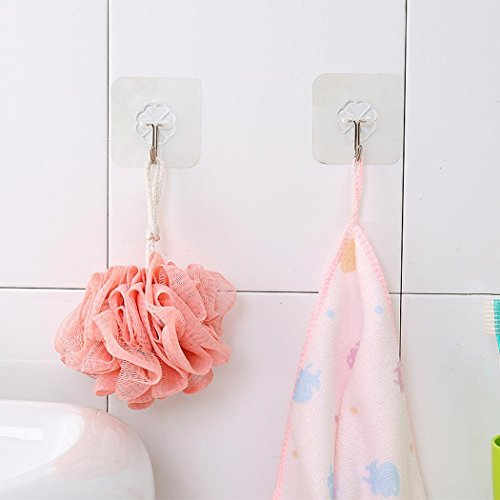 Miuniu Kitchen Towel Suction Cup Hook Hanger Holder Clear Bathroom Sucker Wall Hanger Utility Hooks(1 PCS) by Miuniu (Image #5)